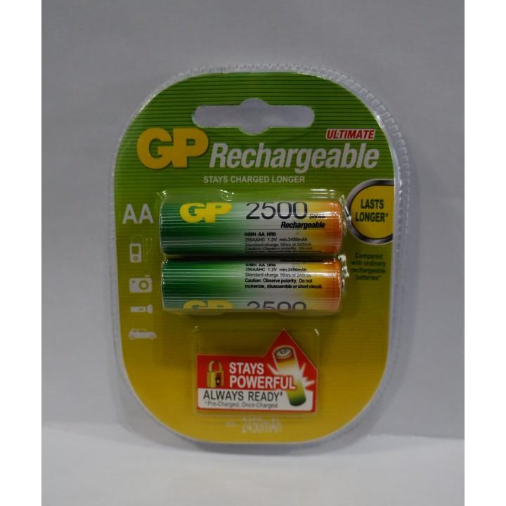 Аккумуляторная батарейка GP AA R06 2500 MAH (на блистере)