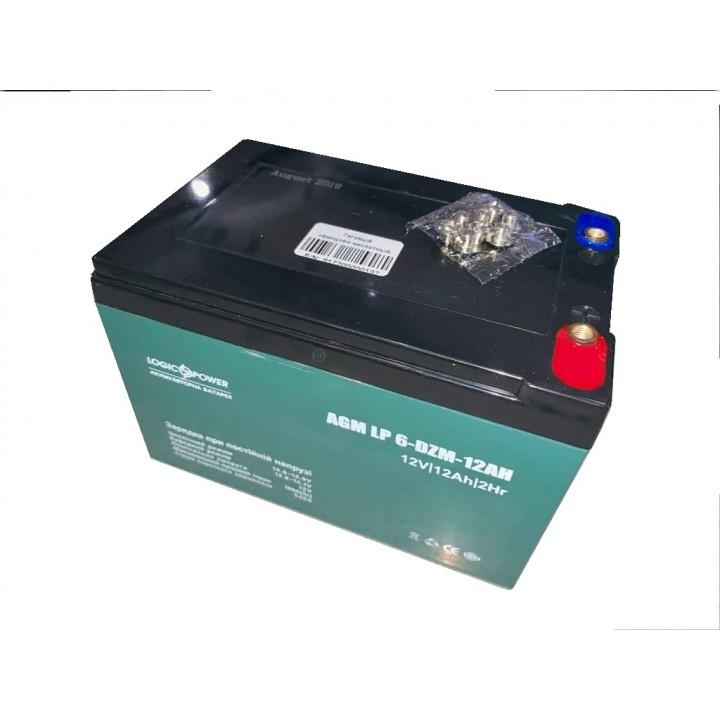 Тяговый свинцово-кислотный аккумулятор LP 12-12A (6-DZM-12AH) LP9172 под болт