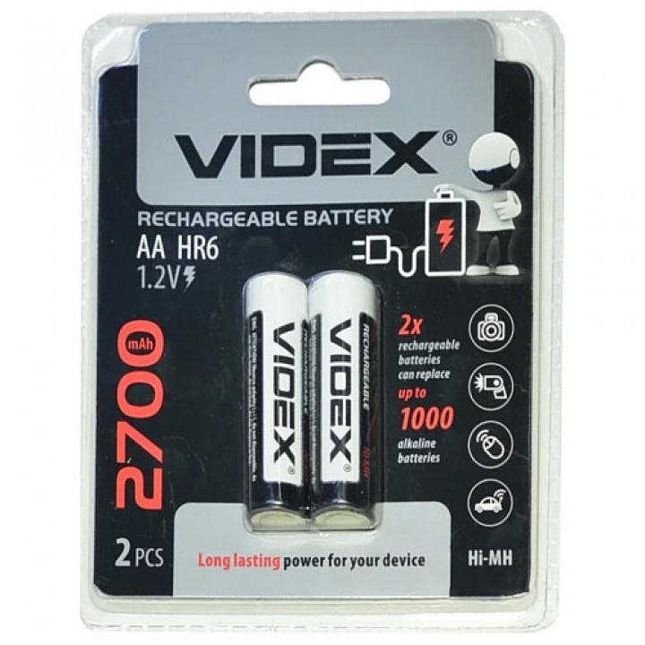 Аккумуляторная батарейка Videx HR6/AA 2700mAh (на блистере)