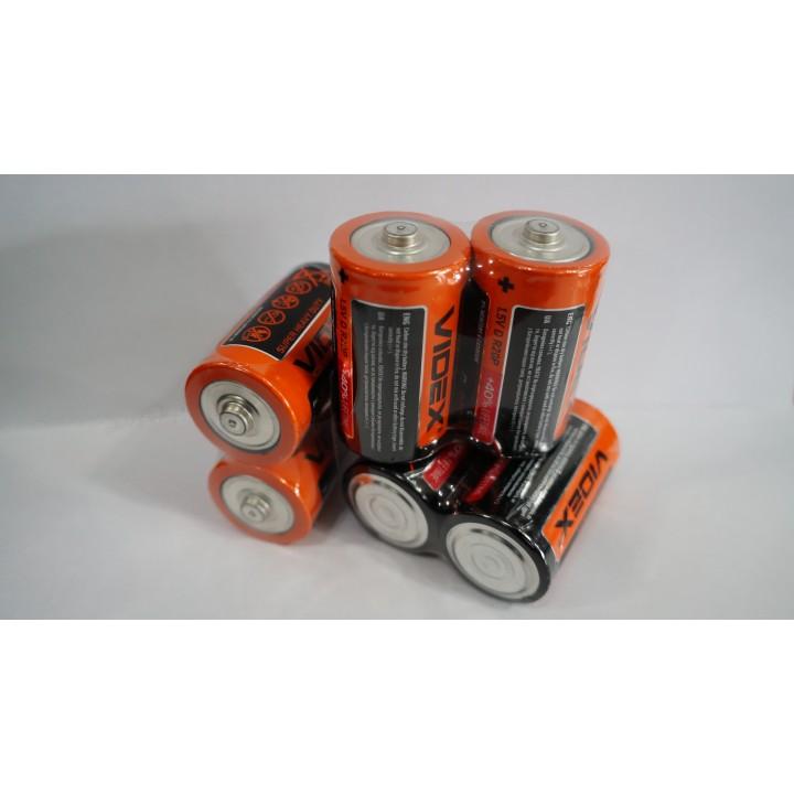 Батарейка Videx SUPER HEAVY DUTY R20 1.5 V D солевая
