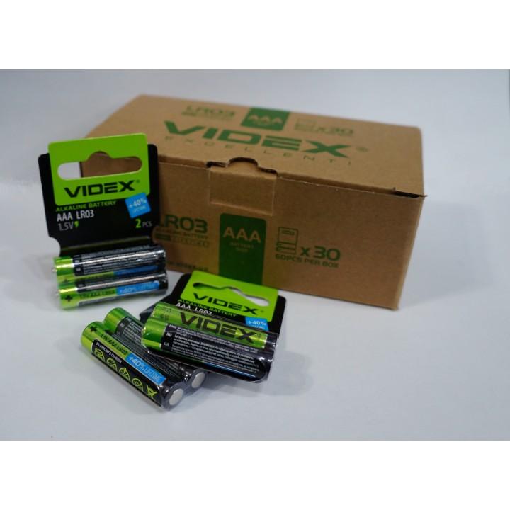 Батарейка VIDEX LR03/AAA alkaline