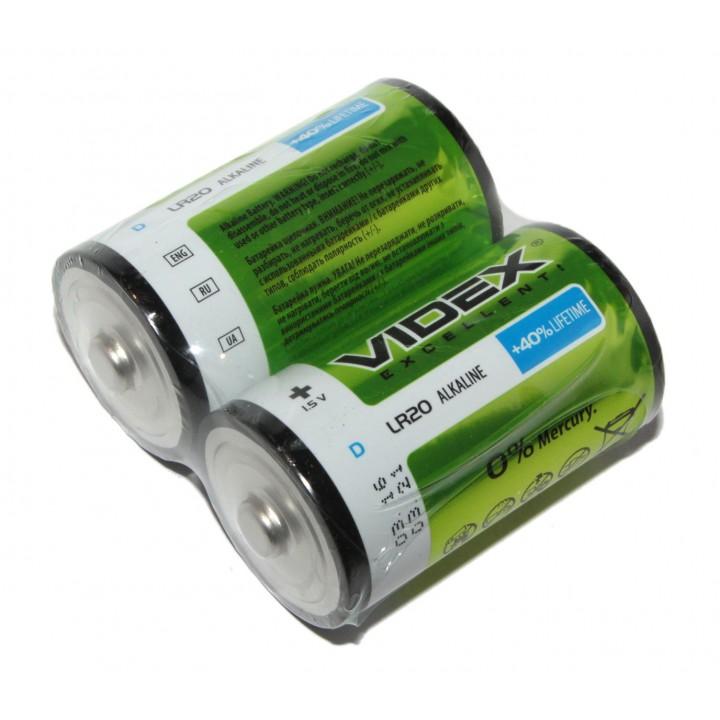 Батарейка Videx LR20 alkaline 1.5V