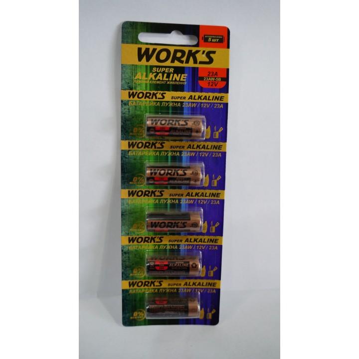 Батарейка WORKS 23A (на блистере)