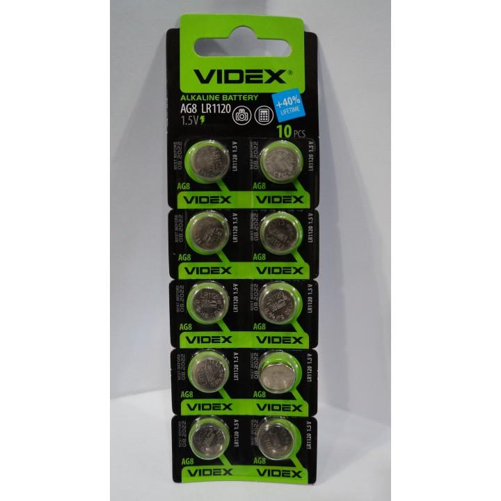 Батарейка Videx AG8/LR1120 (блистер )
