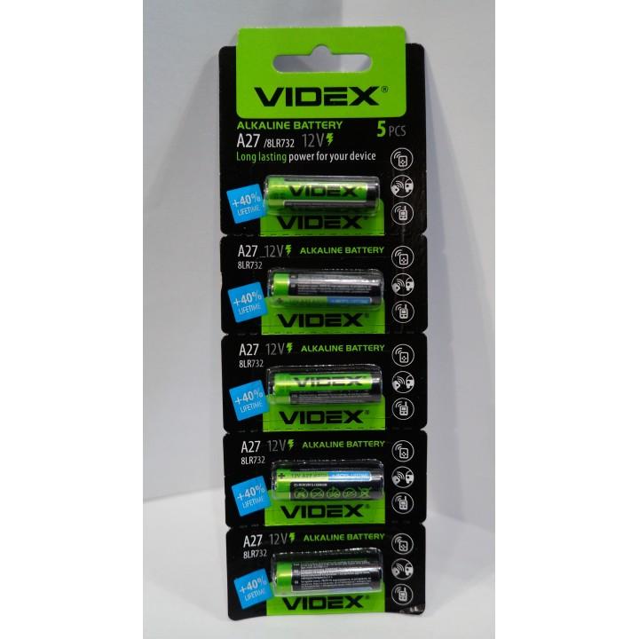 Батарейка Videx 27A (12v) (на блистере)