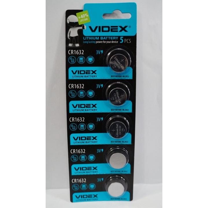 Батарейка Videx CR1632 3V (на блистере)
