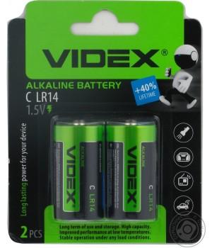 Батарейка Videx LR14 alkaline 1.5V (на блистере)