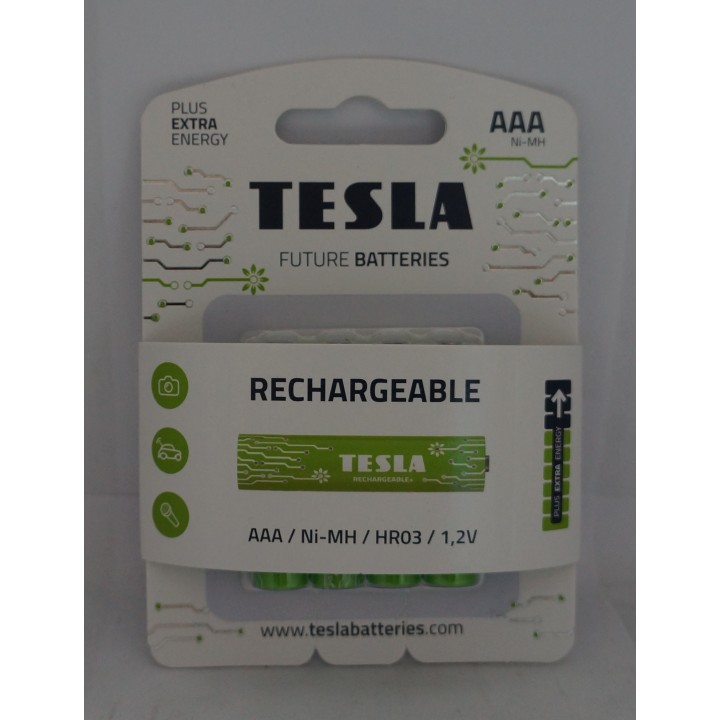 Аккумуляторная батарейка TESLA HR03 AAA 800 mAh