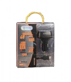 Автомобильное  зарядное  Soloffer C210 + кабель  usb micro (v8) 4-Port USB Car Charger with Quick Charge 3.0 (4X Faster)