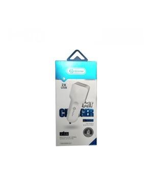 Автомобильное зарядное устройство Soloffer c203+ кабель usb micro (v8)