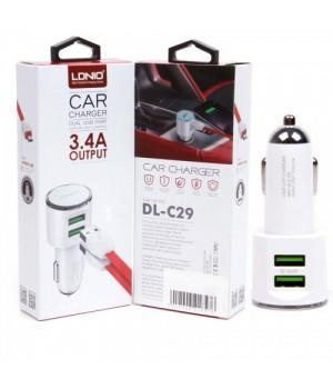 Автомобильное зарядное устройство LDNIO DL-C29 3,4A 2xUSB + кабель micro USB