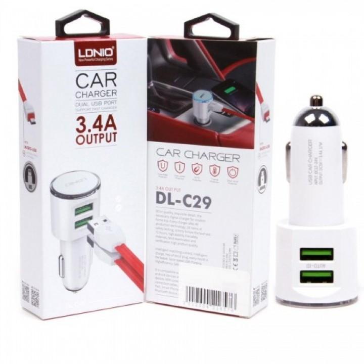 АЗУ  LDNIO DL-C29 3.4A 2xUSB + кабель micro USB