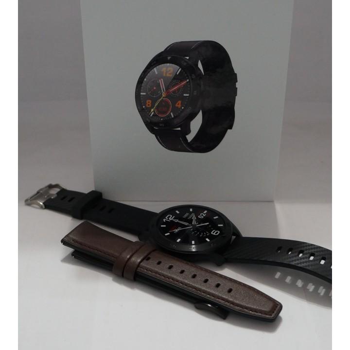 Умные часы Smart Watch Torntisc DT98 черный+коричневый кожа