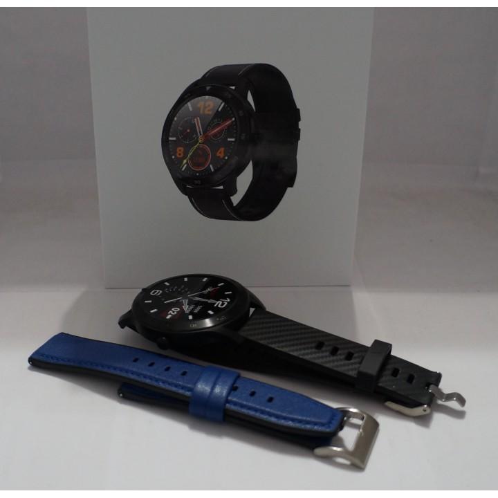 Умные часы Smart Watch Torntisc DT98 черный+синий кожа