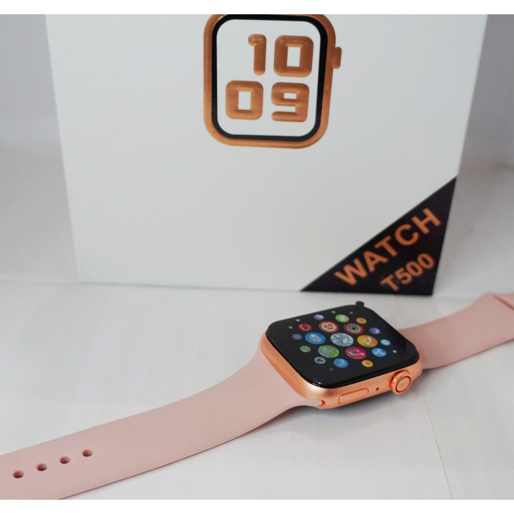 Умные часы Smart Watch T500 Inteligente sport розовые