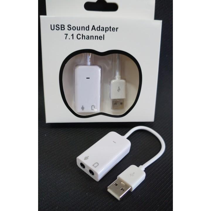 Внешняя Звуковая Карта USB 7.1Channel Audio 3D Sound Card PD560