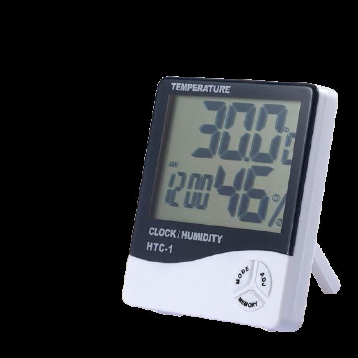 Комнатный измеритель температуры и влажности HTC-1  с часами
