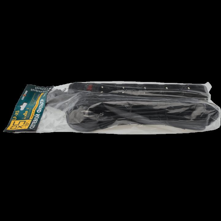 Сетевой фильтр Logic Power LP-X5 5 розеток 10m в пакете