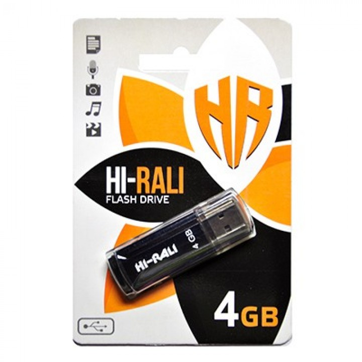 USB Флешка Hi-Rali 4GB Stark series Black