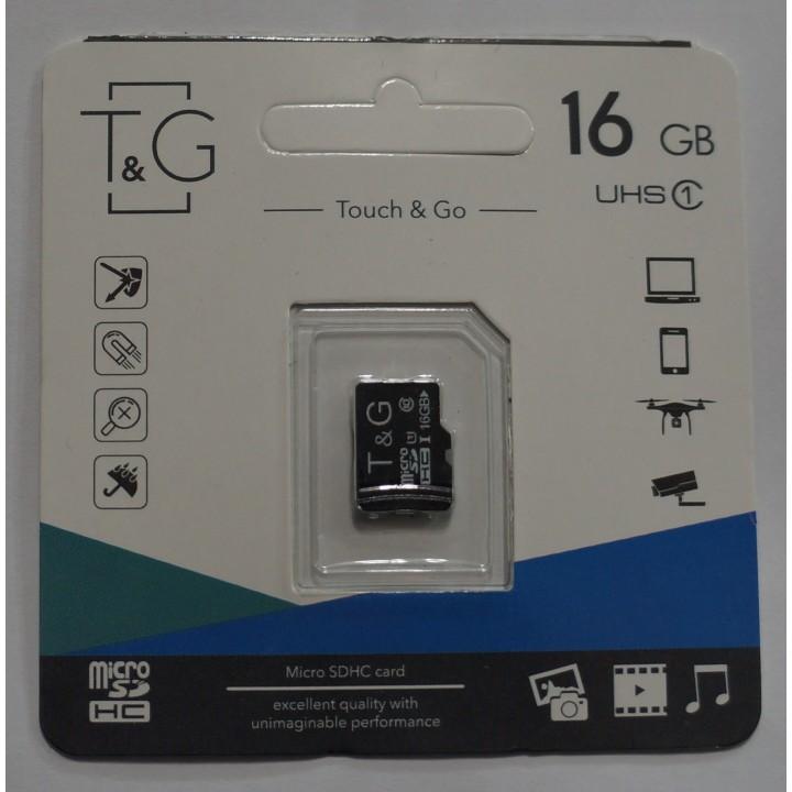 Micro SD карта памяти T&G 16Gb class 10 без адаптера
