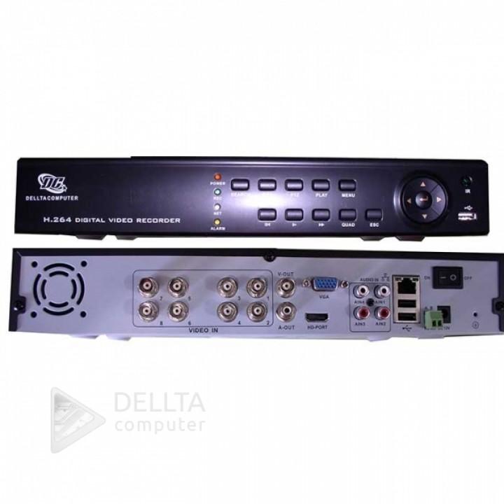 Видеорегистратор 8008 8-ми канальный 2mp стационарный DVR WI FI 3G HDMI 8A/V IP