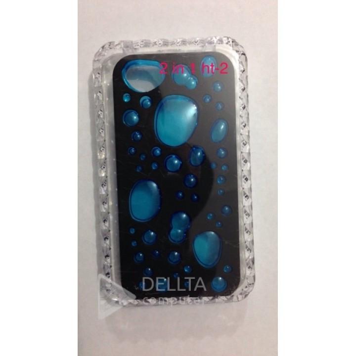 Чехол Iphone 4 2in 1 crystal HT-2