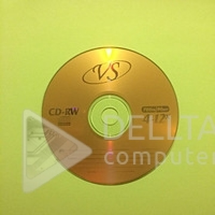 Диск для записи CD-RW VS 50 шт упаковка