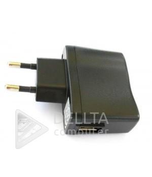Сетевое зарядное устройство USB black  500mA