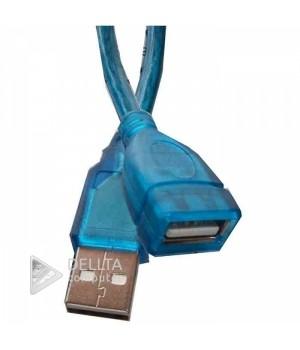 Кабель USB AM/AF 1,5m синий