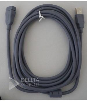 Кабель USB AM/AF 5m good серый