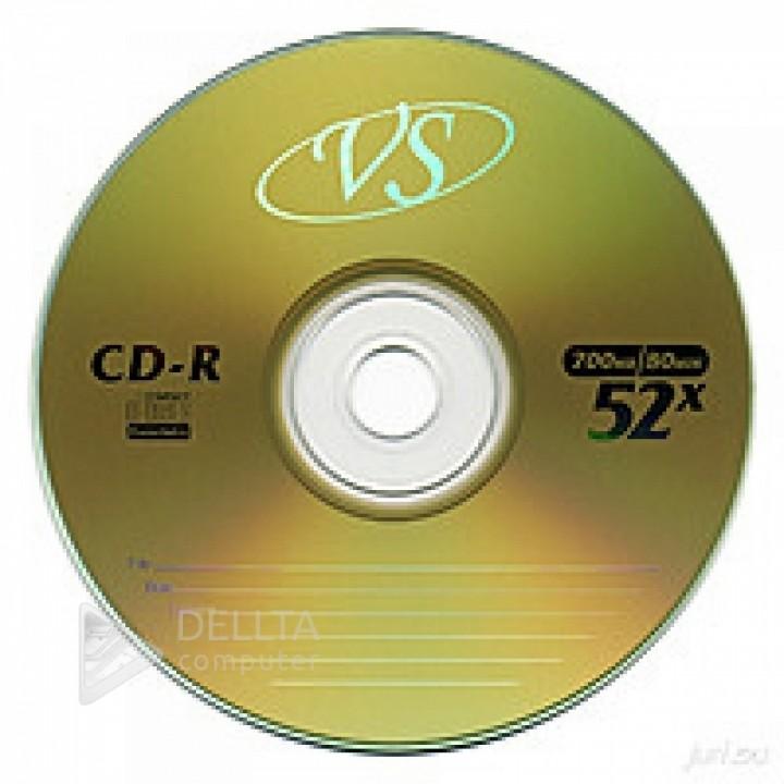 Диск для записи CD-R VS 700Mb 52x Bulk (50 шт)