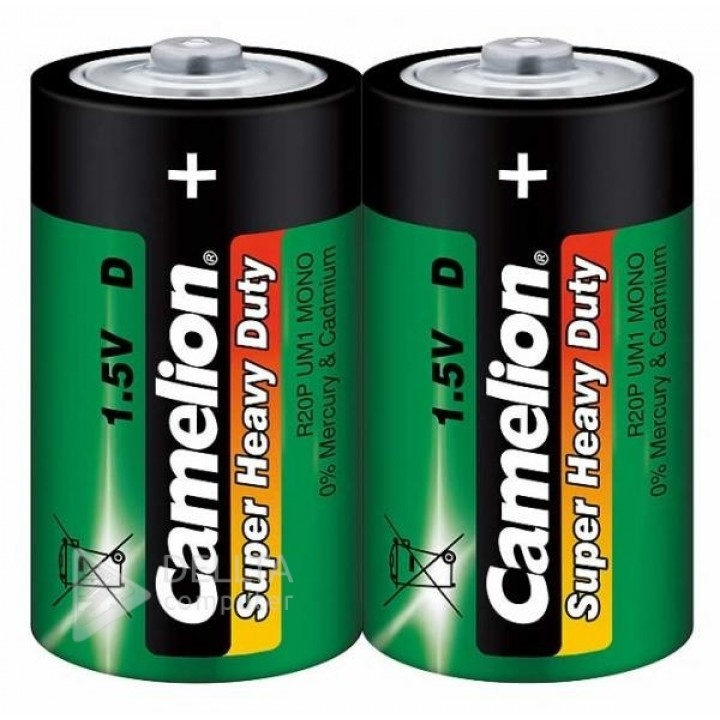 Батарейка солевая Camelion R20цена за упаковку 12 шт)