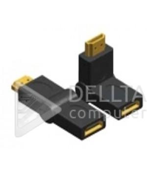 Переходник HDMI M/ HDMI F поворотный