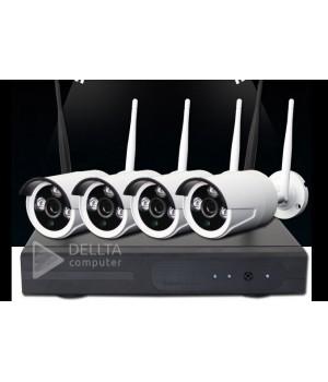 Комплект видеонаблюдения на 4 камеры CT-NW6304 Беспроводной