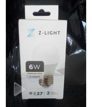 Светодиодная лампа Z-Light zl-14506274 6W E27   4000k шарик