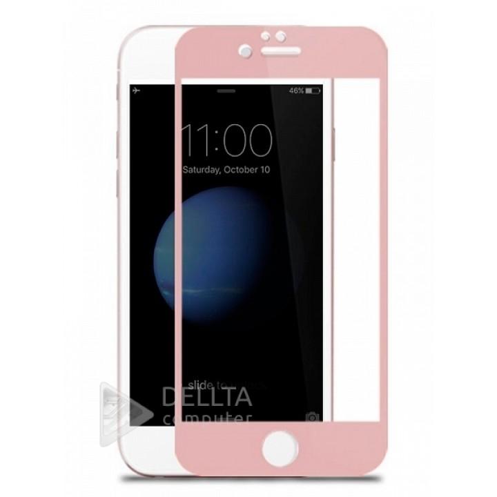 Защитное стекло для Iphone 6/6s (6G)розовое Full Cover