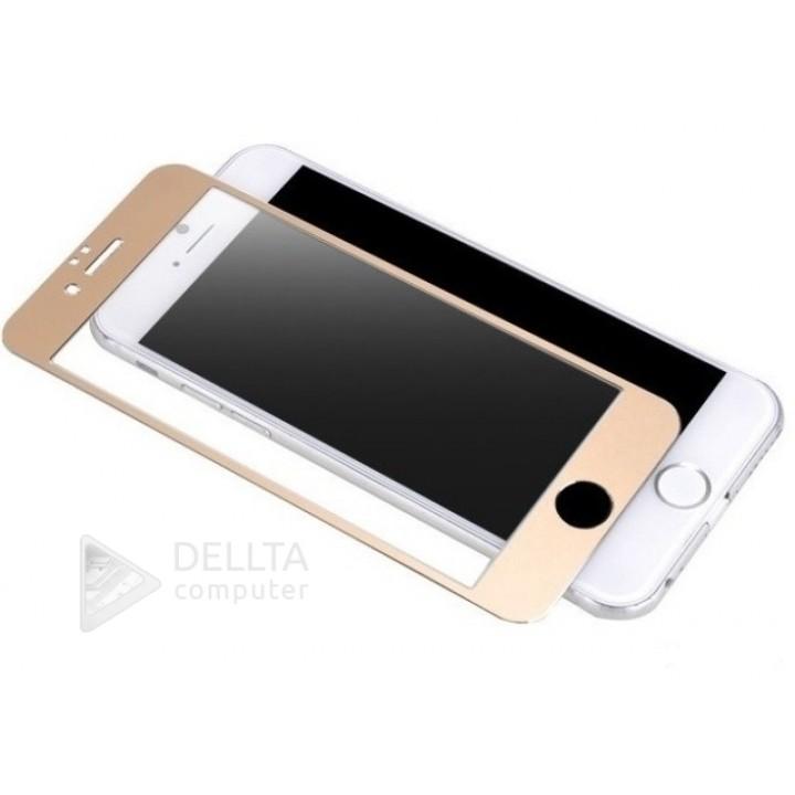 Защитное стекло для Iphone 6/6s plus(6G) золото Full Cover