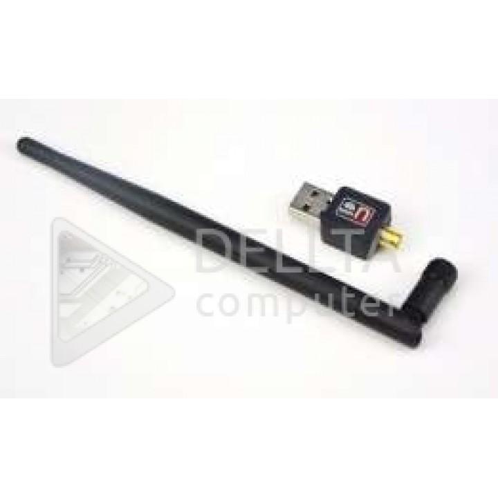 Usb wifi адаптер 300Mb c длинной антенной