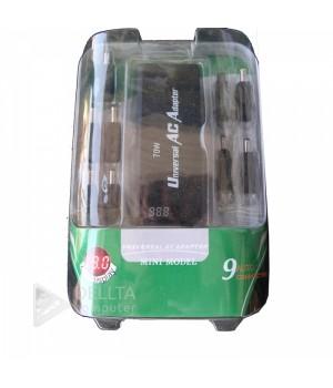 Адаптер универсальный для  ноутбука 70W, led