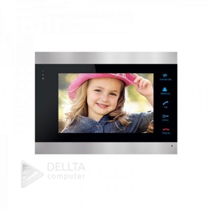 Цветной видеодомофон Green Vision GV-052-J-VD7SD silver * (4361)