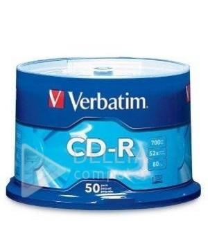 Диск для записи CD-R 700Mb 52x Verbatim Extra Wrap 50 штук Printable