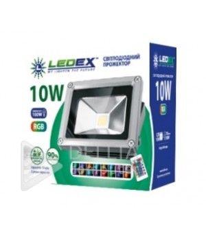 Прожектор Ledex 10 w 900 lm 6500k AC85-265V RGB