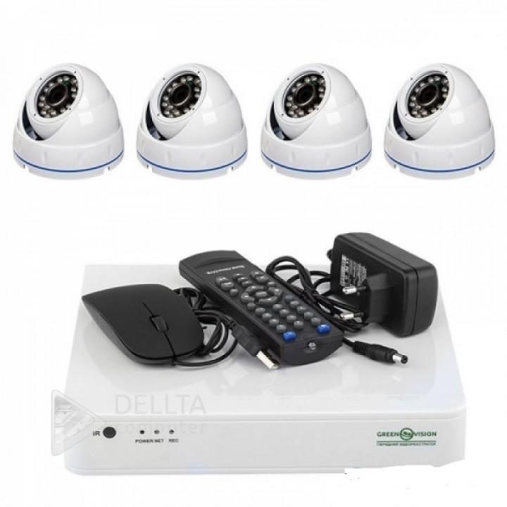Купить Комплект видеонаблюдения Green Vision GV-K-L09/04 1080P: цена, характеристики   Dellta Computer