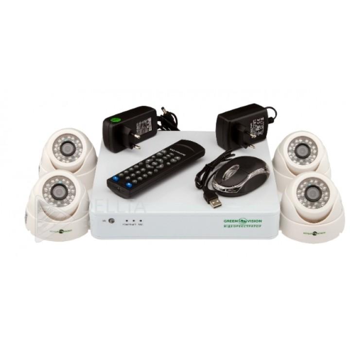 Купить Комплект видеонаблюдения Green Vision GV-K-S12/04 1080P: цена, характеристики | Dellta Computer