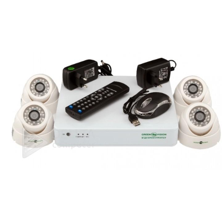 Купить Комплект видеонаблюдения Green Vision GV-K-G01/04 720Р: цена, характеристики   Dellta Computer