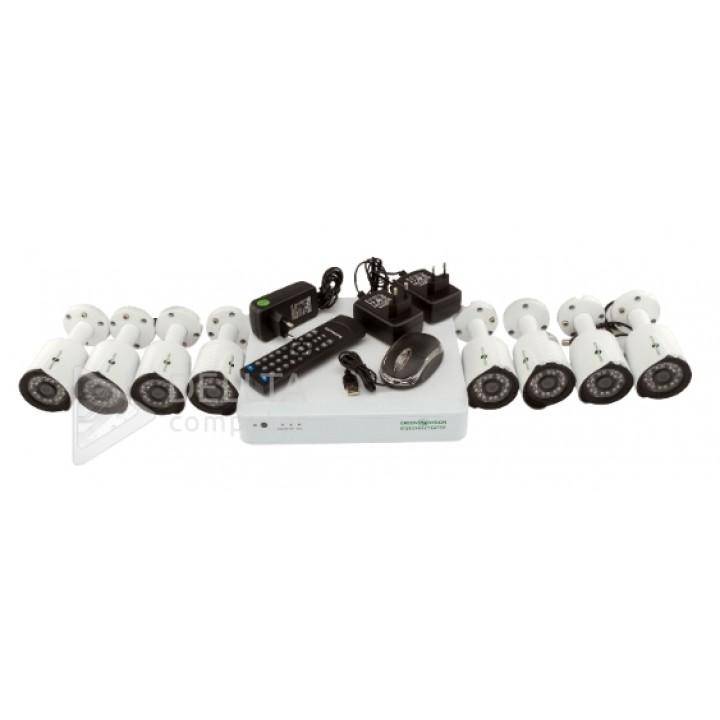 Купить Комплект видеонаблюдения Green Vision GV-K-G03/08 720Р: цена, характеристики   Dellta Computer