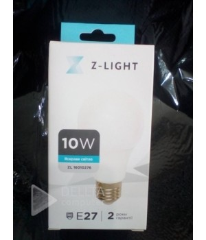 Светодиодная лампа Z-light 10w E27 6400k zl-16010276 a60