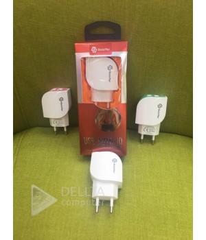 Сетевое зарядное устройство + кабель usb micro (v8) 2,4m Soloffer 2012