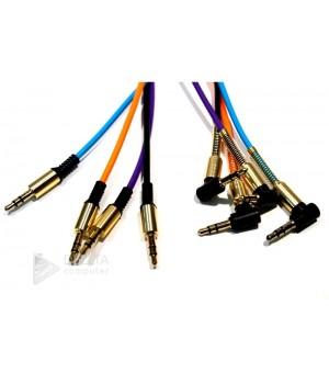 AUX кабель  3.5m/m  угловой в ассортименте