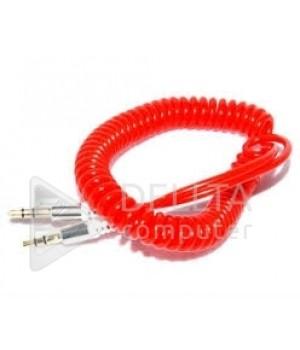 AUX кабель  3.5m/m спираль  1m